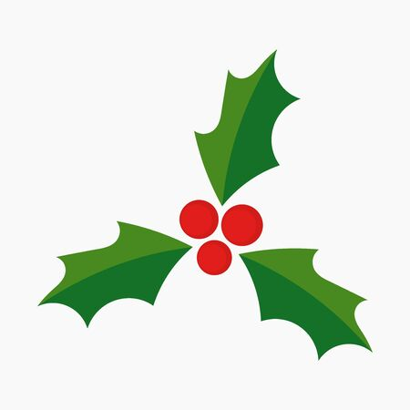 Christmas holly berries symbol icon