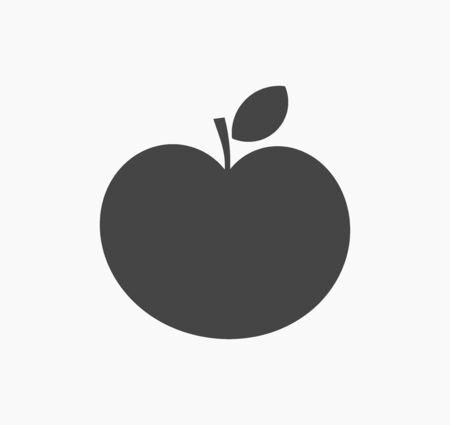 Black apple shape icon. Vector illustration.