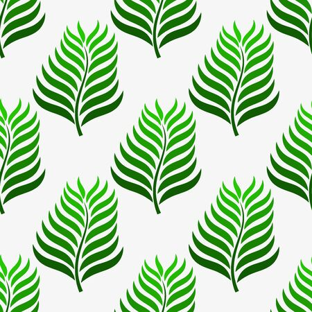 Green palm leaves pattern. Ilustracja