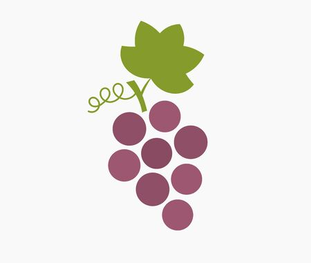 Bunch of purple grapes icon. Vector illustration. Ilustracja