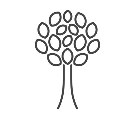 Tree line simple icon. Vector illustration.