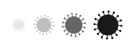 Coronavirus virus SARS-CoV-2 model symbol shape. Vector illustration. Ilustracja