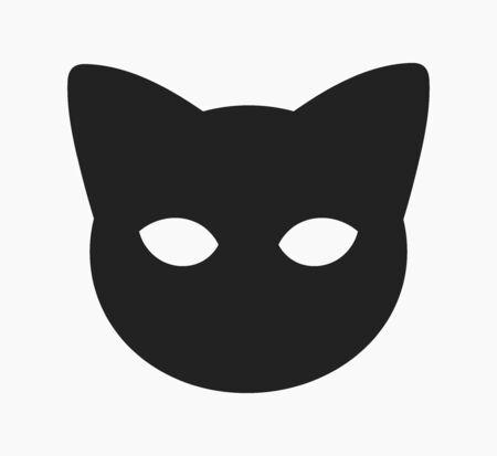 Cute cat head face mask shape. Vector illustration