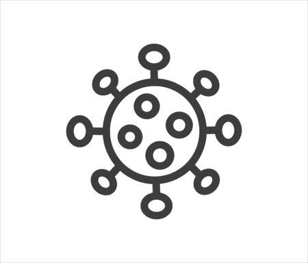Coronavirus virus simple line icon. Vector illustration. 向量圖像