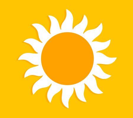 Summer sun label or banner background. Vector illustration. 向量圖像