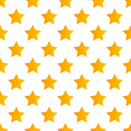 Yellow stars on white background seamless pattern. Vector illustration. 向量圖像