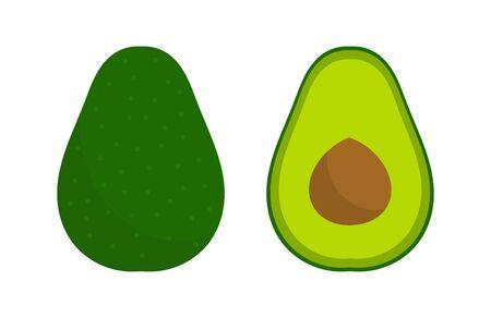 Avocado fruit flat icon. Vector illustration 向量圖像