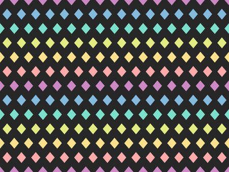 Diamond shape seamless colorful pattern. Vector illustration. 向量圖像