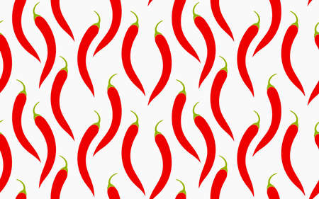 Red hot chili peppers seamless pattern. Vector illustration,
