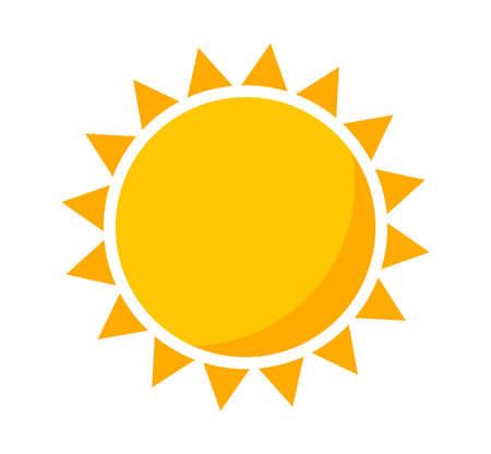 Sun icon, flat design vector illustration.