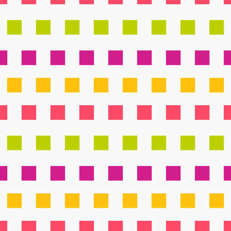 Colorful squares flat seamless pattern. Vector illustration.