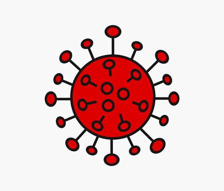 Coronavirus virus symbol. Vector illustration. 向量圖像