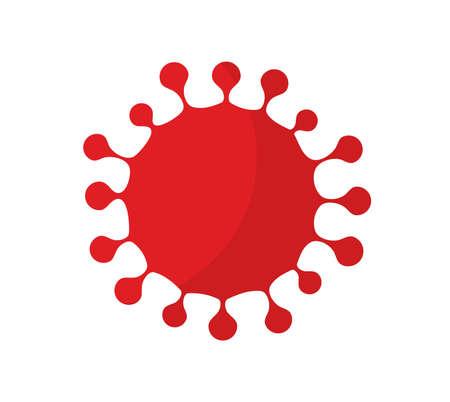 Coronavirus virus red simple symbol. Vector illustration.