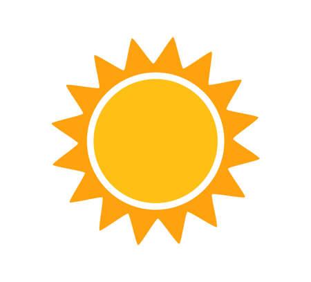 Cute sun simple flat icon. Vector illustration.