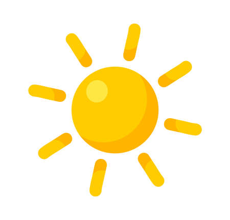 Summer sun icon. Vector illustration. 向量圖像