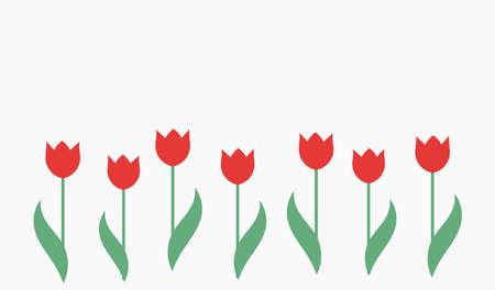 Red tulips background. Vector illustration. Vektorgrafik