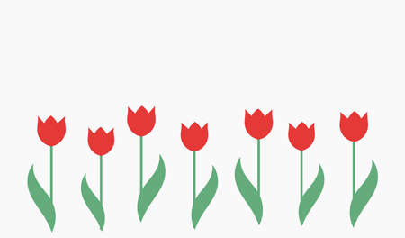 Red tulips background. Vector illustration. Vetores
