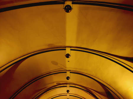 Abstract tunnel ceiling