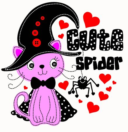 Spider cat Vector