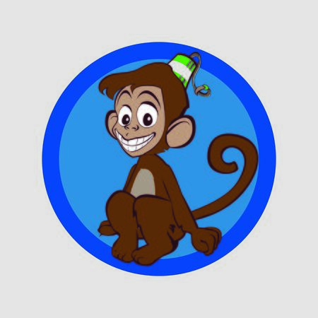 Very merry monkey expect trouble and smile Vector