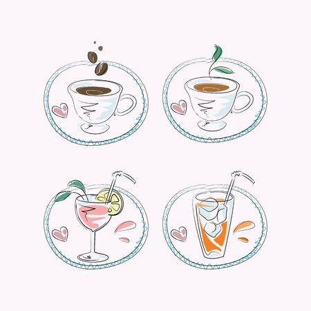 rinfreschi: Caff� caldo e rinfresco per menu del ristorante