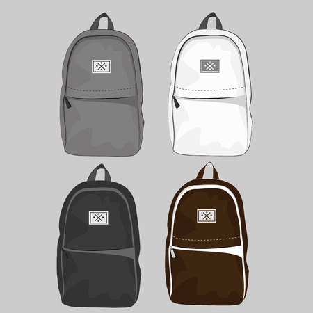 backpack school: Set of four casual and style backpack