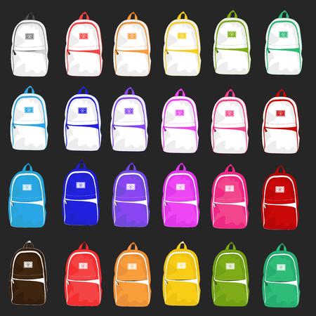 mochila de viaje: Conjunto de veinticuatro mochila casual y estilo luminoso