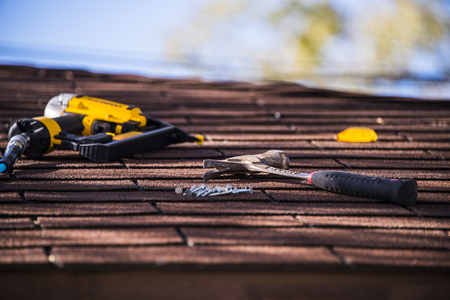 roof repairing Archivio Fotografico