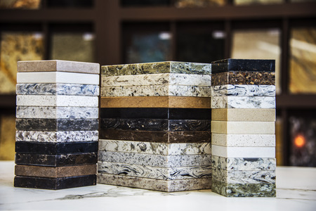 Natural stone sample colors on display Reklamní fotografie - 68136760