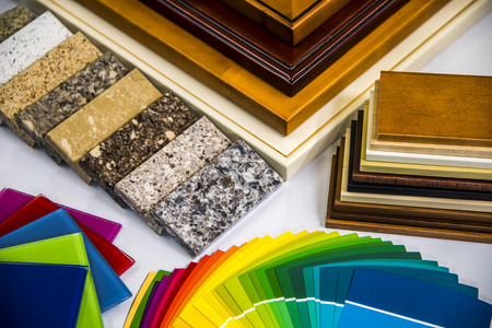 Kitchen material selection for remodeling. Kitchen Doors, Cabinets, Countertop, Paint Color