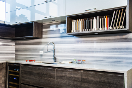#73932669   Contemporary Kitchen Design. 3D Perspective View