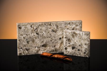 Elegant white brownish stone samples for kitchen counter