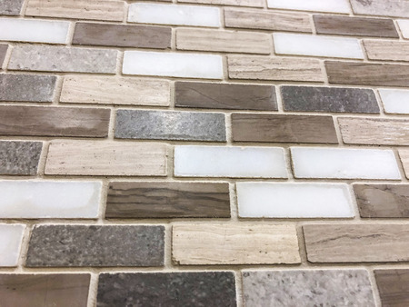 Mosaik tiles,rectangular shape small tiles of different texture and different material, brown,whitw,grey color,can be used as floor and wall tile,can be used as kitchen backsplash