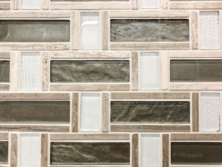 Green stone tile mixed with beige ceramic tile and clear glass tile plased horisontal and vertical giving mosaik look,can be used ae wall tile and kitchen countertop backsplash tile