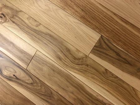 wood floor newly installed Stock Photo
