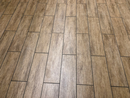 modern slate or ceramic long tiles installed in staggered pattern