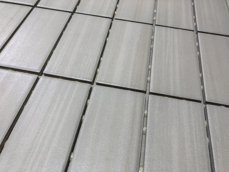 Gray linear tile used for wall or floor kitchen or bathroom remodeling