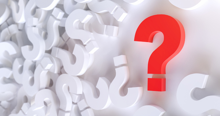 colored question marks background concept. 3D Rendering. Banco de Imagens - 117635010