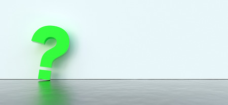 colored question marks background concept. 3D Rendering.
