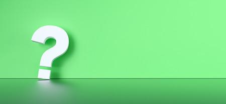 colored question mark background concept. 3D Rendering. Banco de Imagens - 119273708