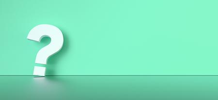 colored question mark background concept. 3D Rendering. Banco de Imagens - 120247572