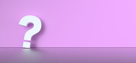colored question mark background concept. 3D Rendering. Banco de Imagens - 120247573