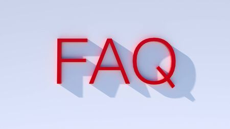 faq app icon against a colored wall - communication concept for contact and service use. copy space for individual text.