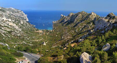 National park of Calanques Marseille Sormiou Provence Panorama seascape