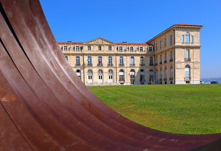Palais du Pharo Marseille seen from the east facade and the park