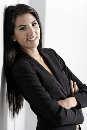 Professional working woman in corporate business suit photo