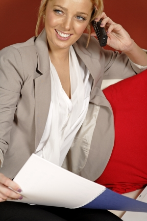 Proffesional young woman working from home Stock Photo - 14792281