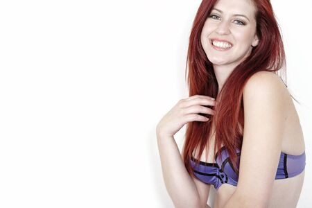 Attractive young woman in her underwear posing and having fun Stock Photo - 15465827