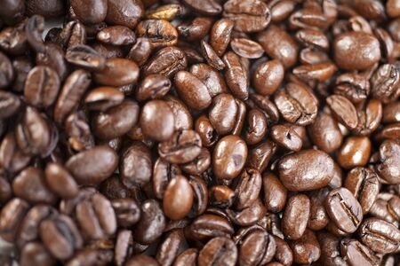 Fresh coffee beans before being ground Stock Photo - 15572143