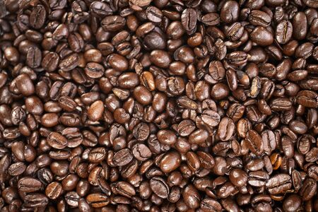 Fresh coffee beans before being ground Stock Photo - 15572146